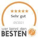 """Wer kennt den Besten - Note """"sehr gut"""" und 2. Platz beim Rating von Modelleisenbahn Einzelhändlern in Karlsruhe im Januar 2021"""